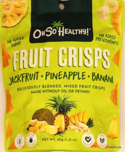 Picture of Oh So Healthy Fruit Crisps Jackfruit Pineapple Banana 40g