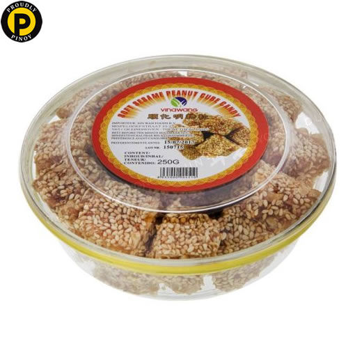 Picture of Vinawang Soft Sesame Peanut Cube Candy 250g