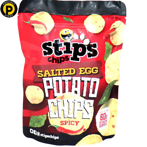 Picture of Stips Chips Salted Eggs Potato Chips Spicy 60g