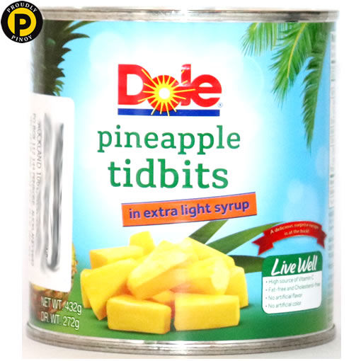 Picture of Dole Pineapple Tidbits 432g