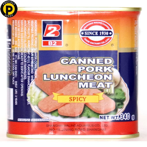 Picture of B2 Spicy Pork Luncheon Meat 340g