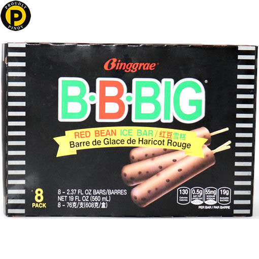 Picture of Melona Big Red Bean Ice Bar 8x80g