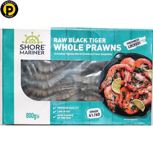 Picture of Shore Mariner Prawn Whole Black Tiger 800g