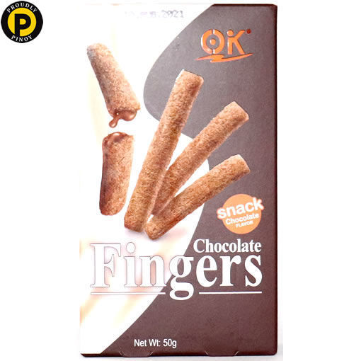 Picture of OK Finger Biscuits Chocolate 50g