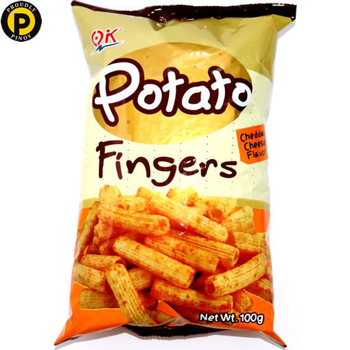 Picture of OK Potato Finger Cheddar Cheese 100g