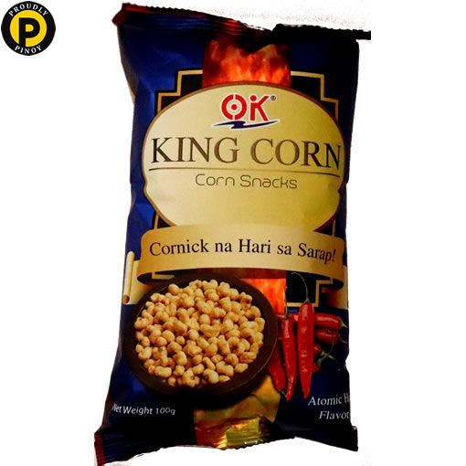 Picture of OK King Corn Snacks Atomic Hot 100g
