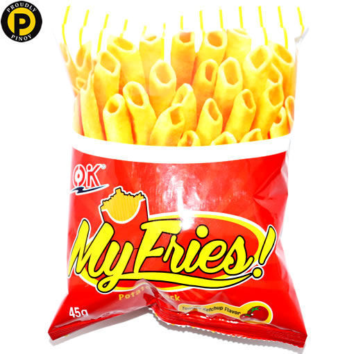 Picture of OK My Fries Potato Snacks Tomato Ketchup 40g